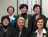 アラブの女性と懇談